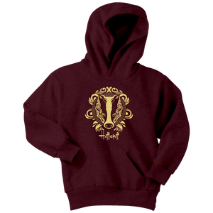 Harry Potter Vintage Hufflepuff Youth Hoodie - Youth Hoodie / Maroon / XS - Ineffable Shop