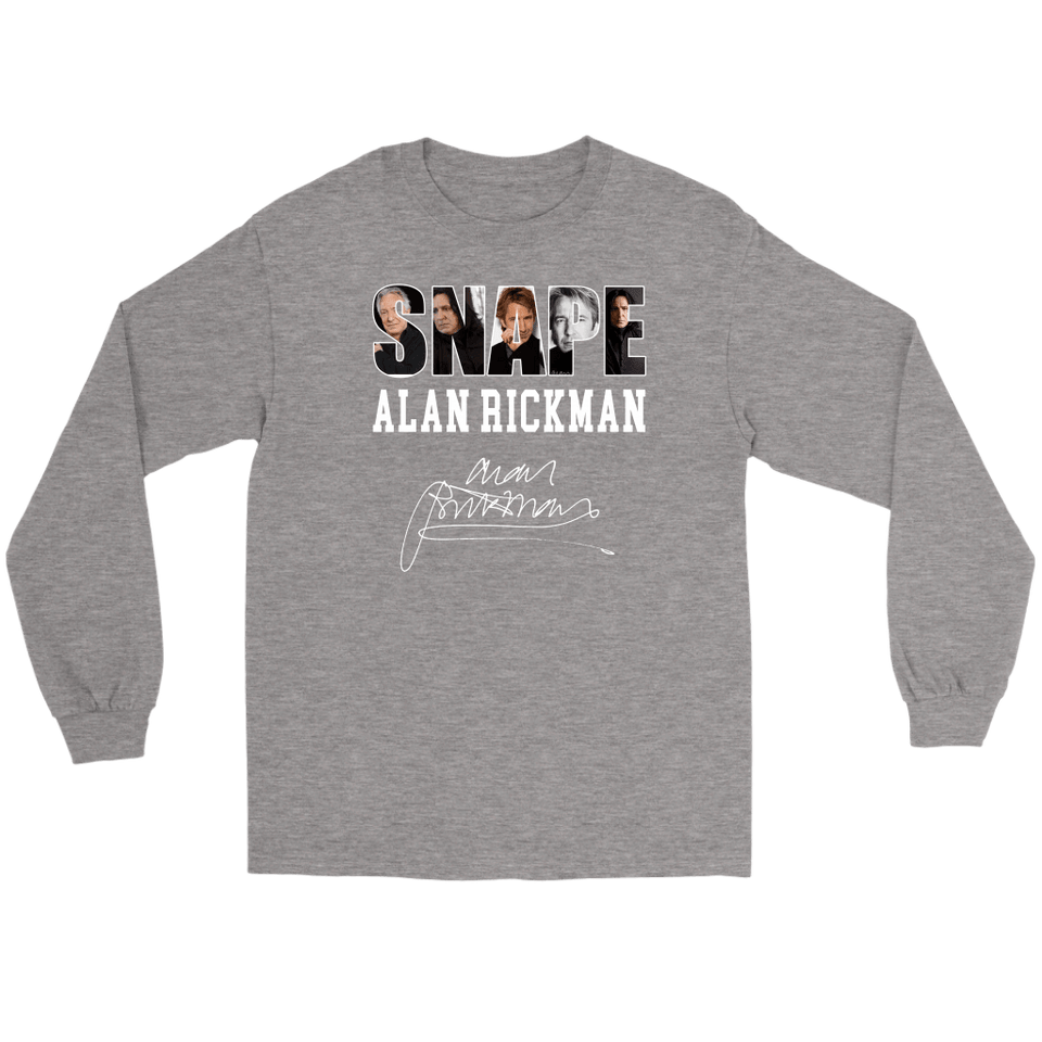 Harry Potter Alan Rickman Gildan Long Sleeve Tee - Gildan Long Sleeve Tee / Sports Grey / S - Ineffable Shop