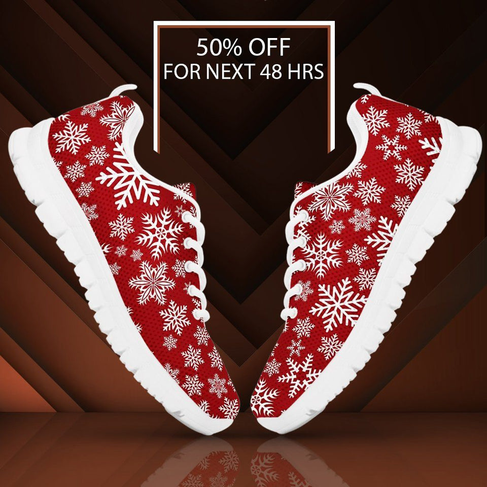 Christmas Red Snow Men's Running Shoes