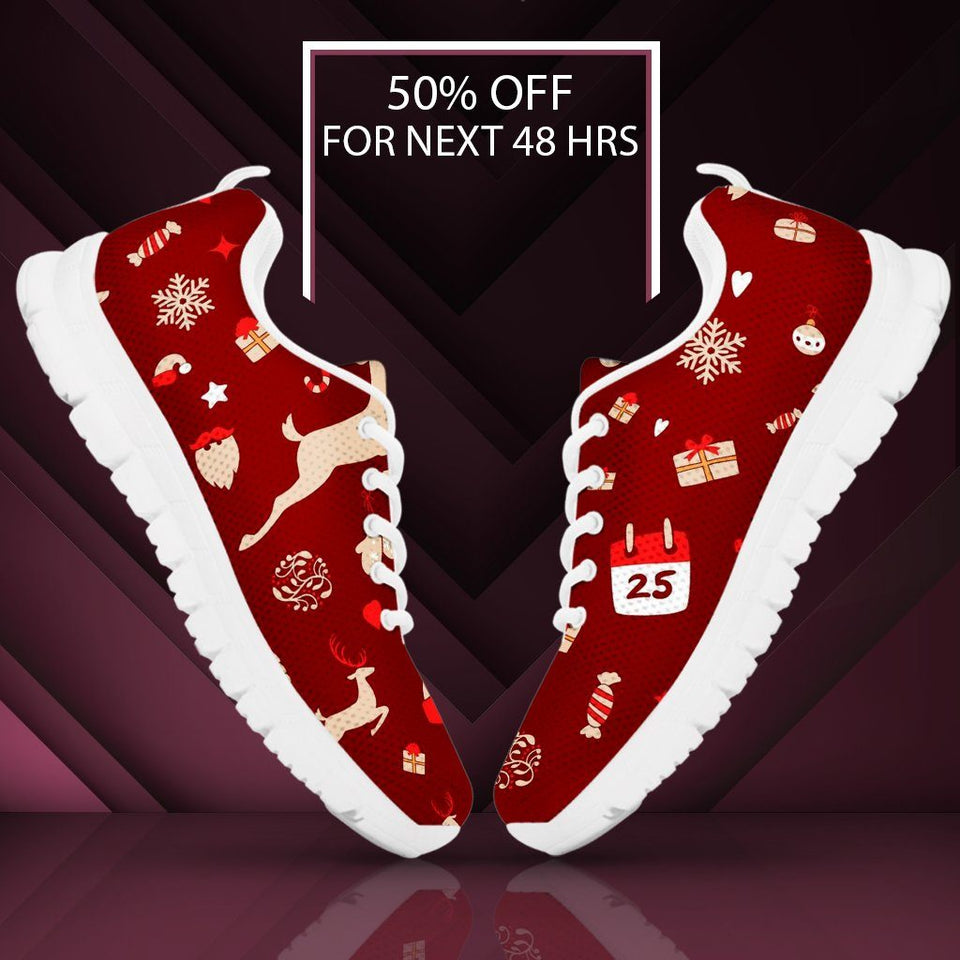 Happy Christmas Men's Sneakers - - Ineffable Shop
