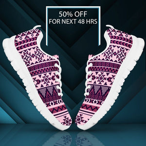 Native American Purple Pattern Women's Sneakers NT069 - - Ineffable Shop