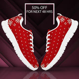 Christmas Red Pattern Women's Running Shoes