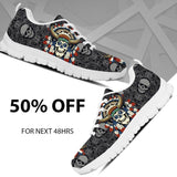 Native American Skull Women's Running Shoes NT112 - - Ineffable Shop
