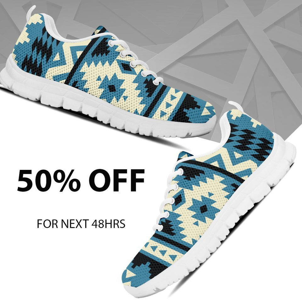 Native American Pattern Kid's Sneakers NT021 - - Ineffable Shop