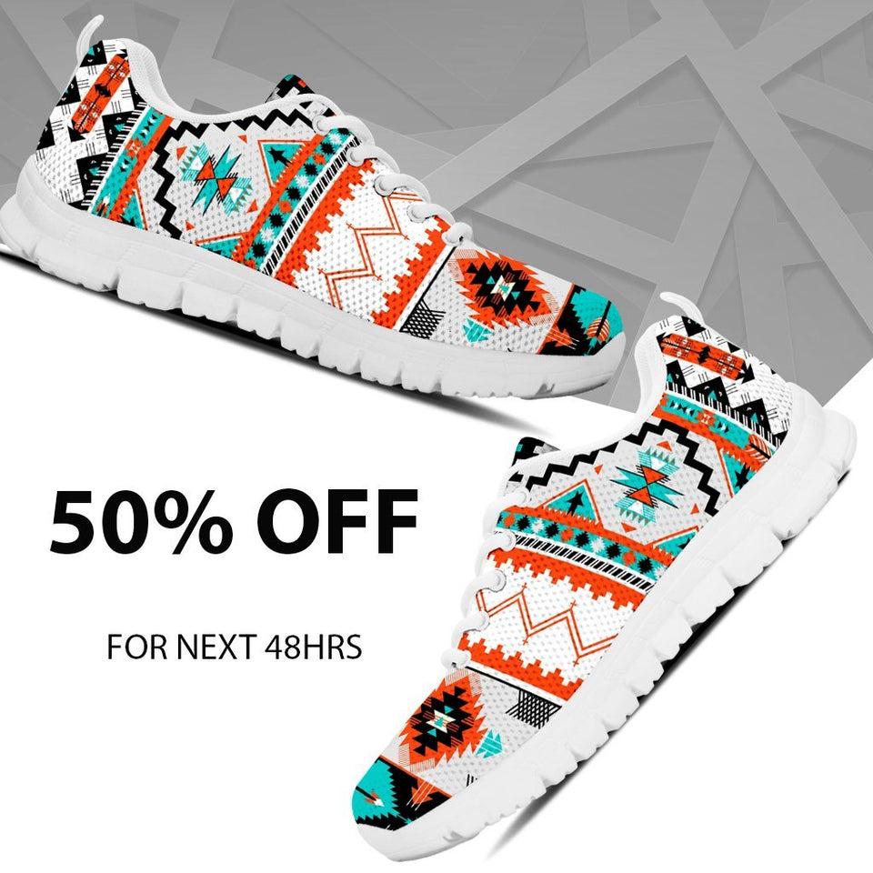Native American Pattern Men's Running Shoes NT079 - - Ineffable Shop