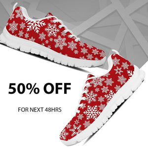 Christmas Red Snow Men's Running Shoes - - Ineffable Shop