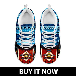 Native American Pattern Men's Costume Shoes NT096 - - Ineffable Shop