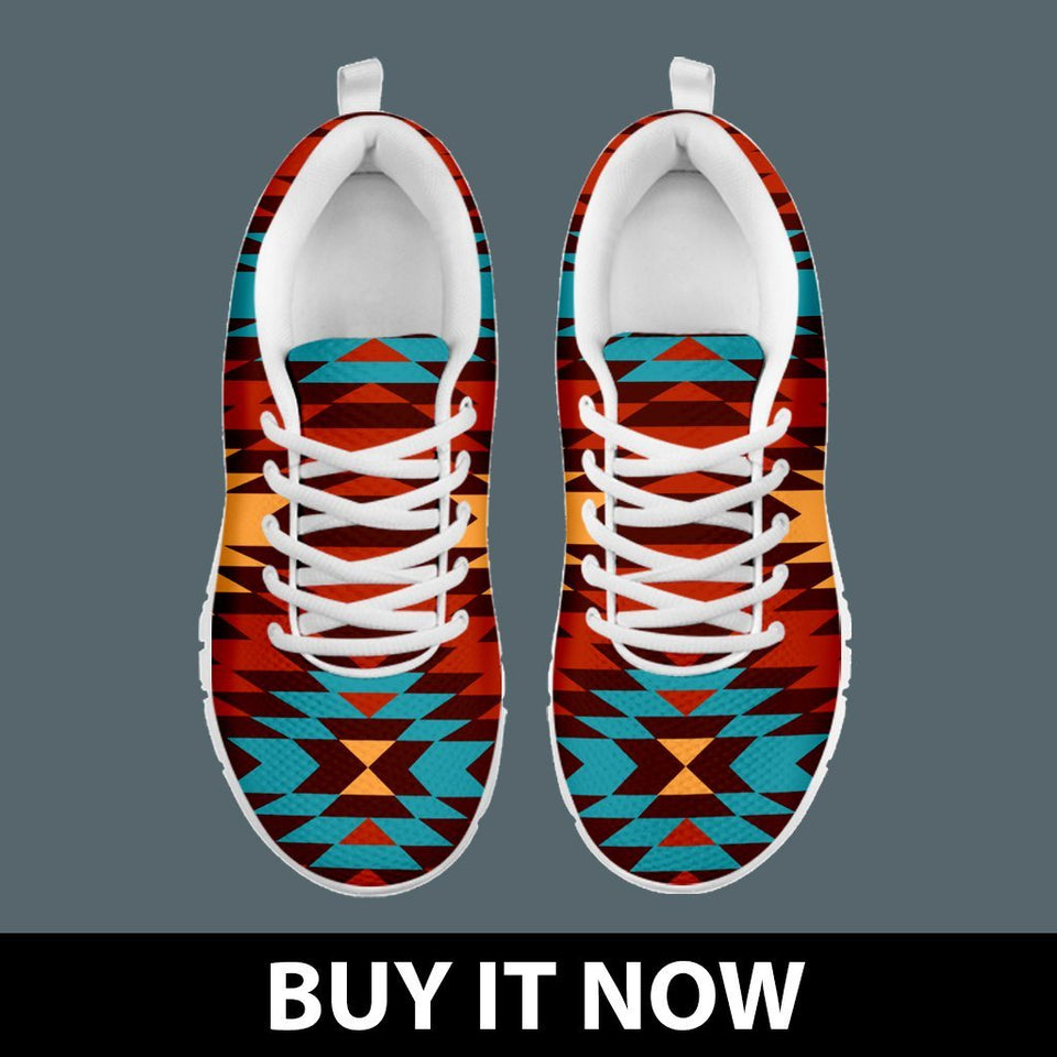Native American Indian Pattern Women's Sneakers NT025 - - Ineffable Shop
