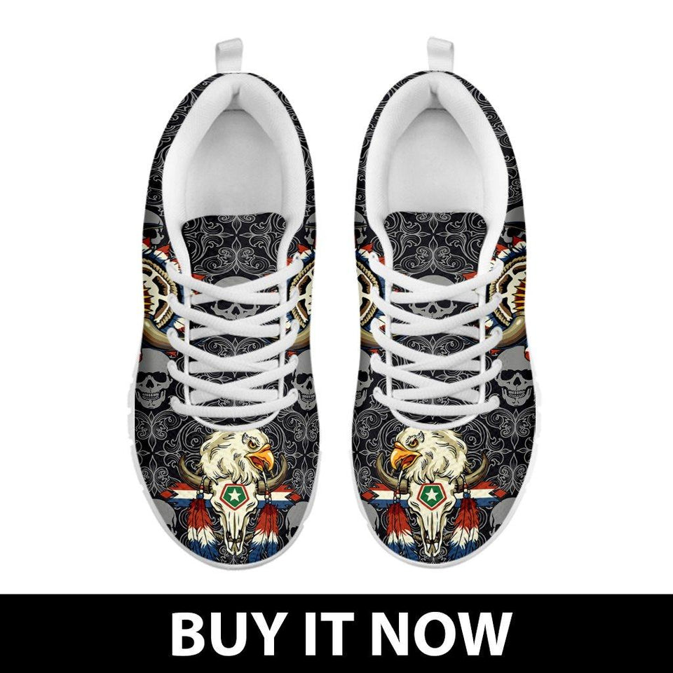 Native American Skull Kid's Running Shoes NT114 - Ineffable Shop