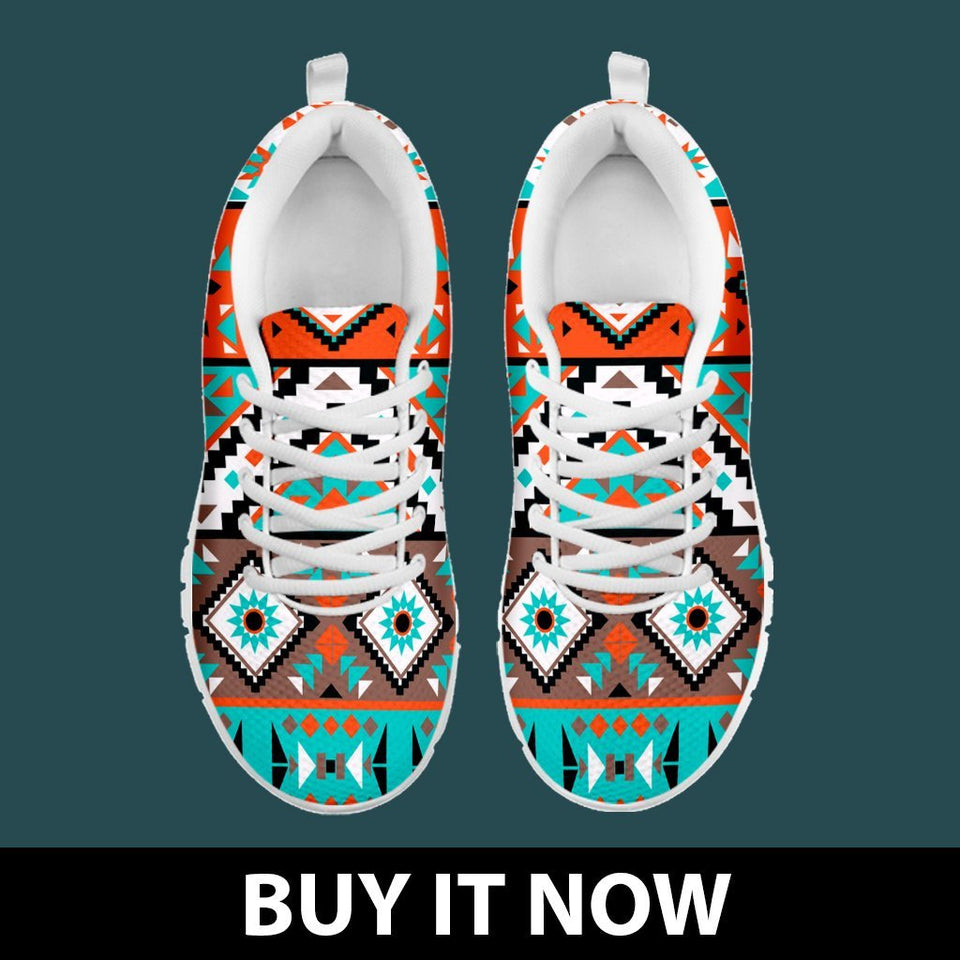 Native American Indian Pattern Men's Shoes NT088 - - Ineffable Shop