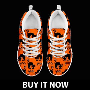 Halloween Black Cat Women's Running Shoes HLW020 - - Ineffable Shop