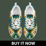 New Naive American Pattern Kid's Sneakers NT045 - - Ineffable Shop