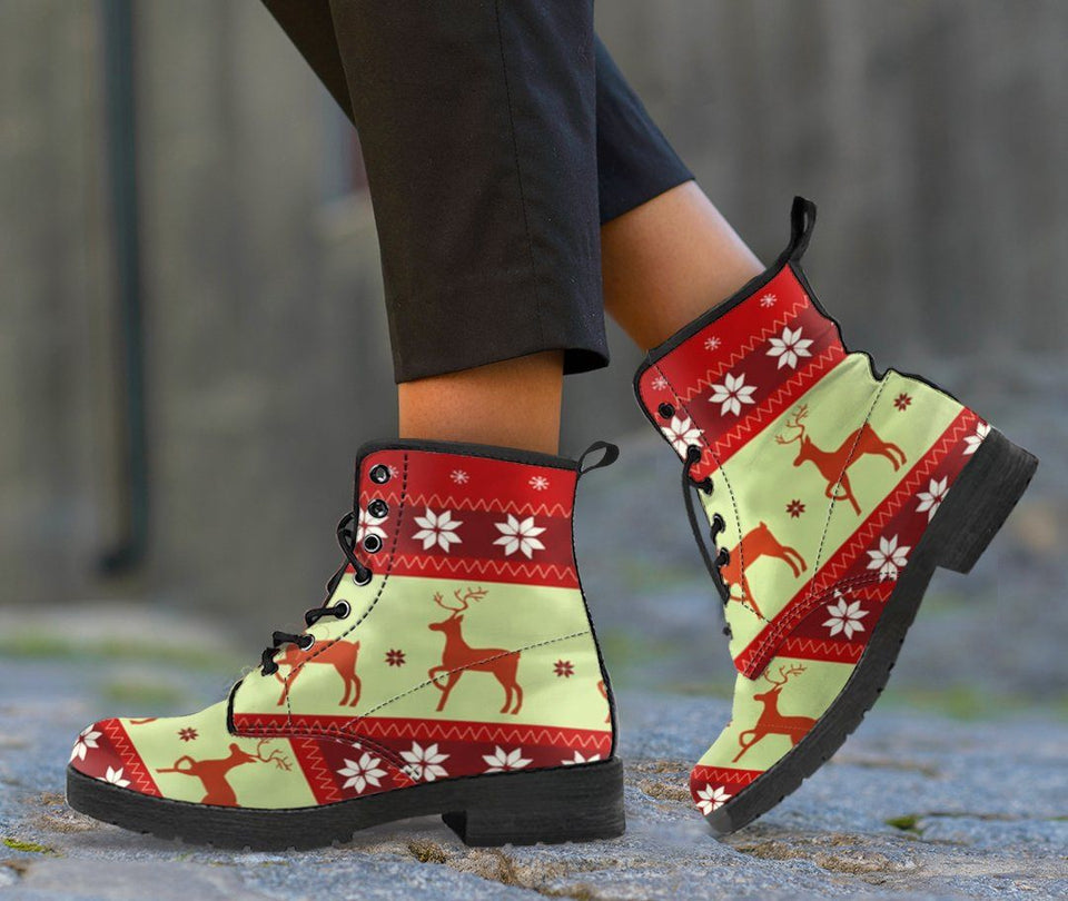 Christmas Leather Boots - Ineffable Shop