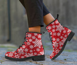 Christmas Snow Leather Boots - Ineffable Shop