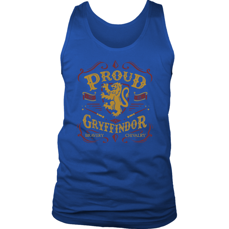 Gryffindor Pride District Mens Tank - District Mens Tank / Royal Blue / S - Ineffable Shop