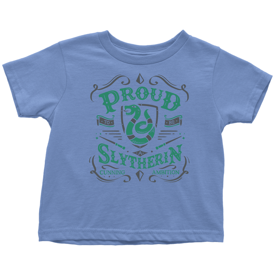 Slytherin Toddler T-Shirt - Toddler T-Shirt / Baby Blue / 2T - Ineffable Shop