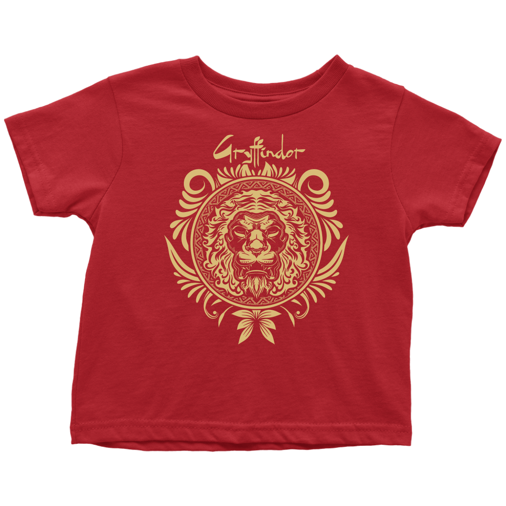 Harry Potter Vintage Gryffindor Badge Toddler T-Shirt - Toddler T-Shirt / Red / 2T - Ineffable Shop
