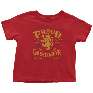 Gryffindor Pride Toddler T-Shirt - Toddler T-Shirt / Red / 2T - Ineffable Shop