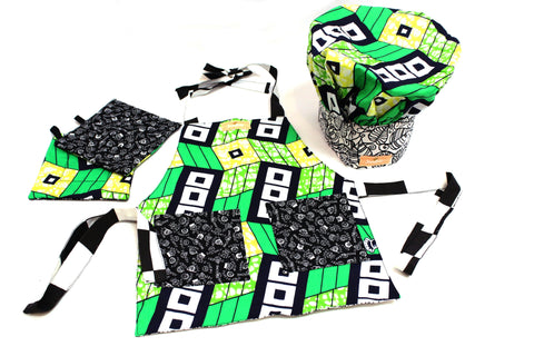Checkers & Jungle Leaf Set