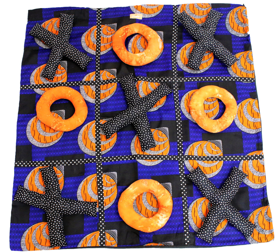 Bold Blue Ankara Activity Mat