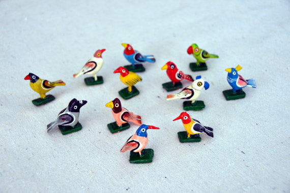 Bird Figurines - set of 12