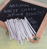 Rawsimple White Slate Pencils Fine 50 Pencils