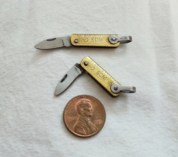 Brass Folding Mini-Knife