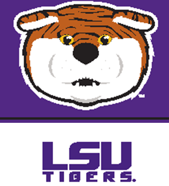 SS Jr -09 Tiger Face over LSU Tigers