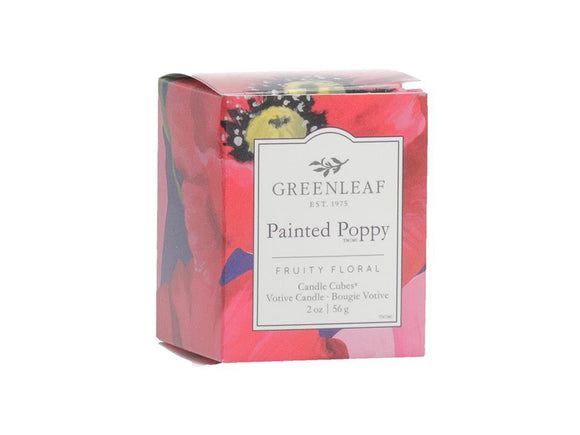 Votive Candle: Painted Poppy