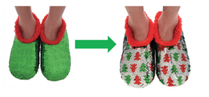 Christmas Reversible Sequin Slippers