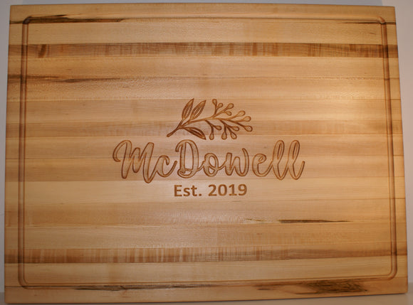 Wedding Collection: Gourmet Chef Cutting Board