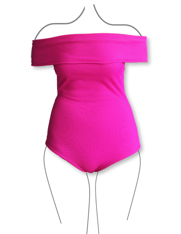 ONE PIECE Bandeau Fuchsia Reversible