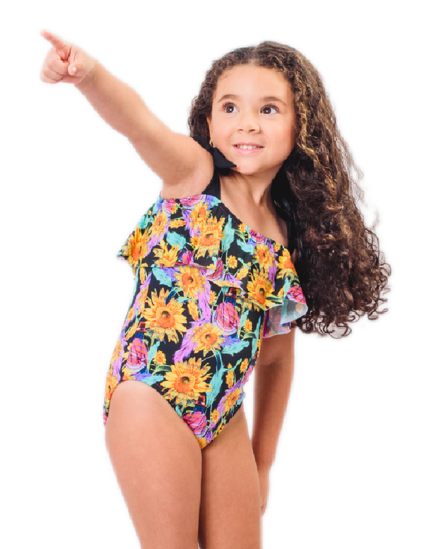 Girls One Piece Bathing Suit