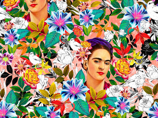 Swimwear Print with Frida Kahlo