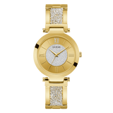 Guess - U1288L2 - Women's Gold Tone Analog Watch with Swarovski® Crystals | Guess - U1288L2 -  Montre au ton doré analogique avec cristaux Swarovski®