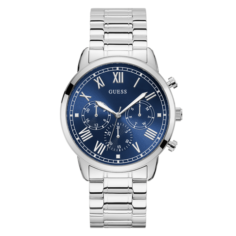 Guess - U1309G1 - Men's Stainless Steel Blue Dial Watch | Guess - U1309G1 - Montre en acier inoxydable avec un cadran bleu