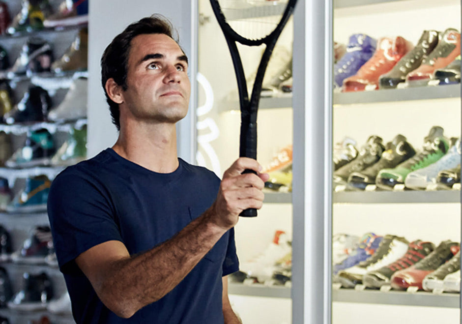 55b5cc556de0 Roger Federer Goes Sneaker Shopping With Complex