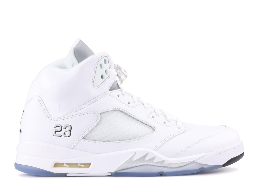 "Air Jordan 5 Retro ""WHITE METALLIC"" 136027 130"