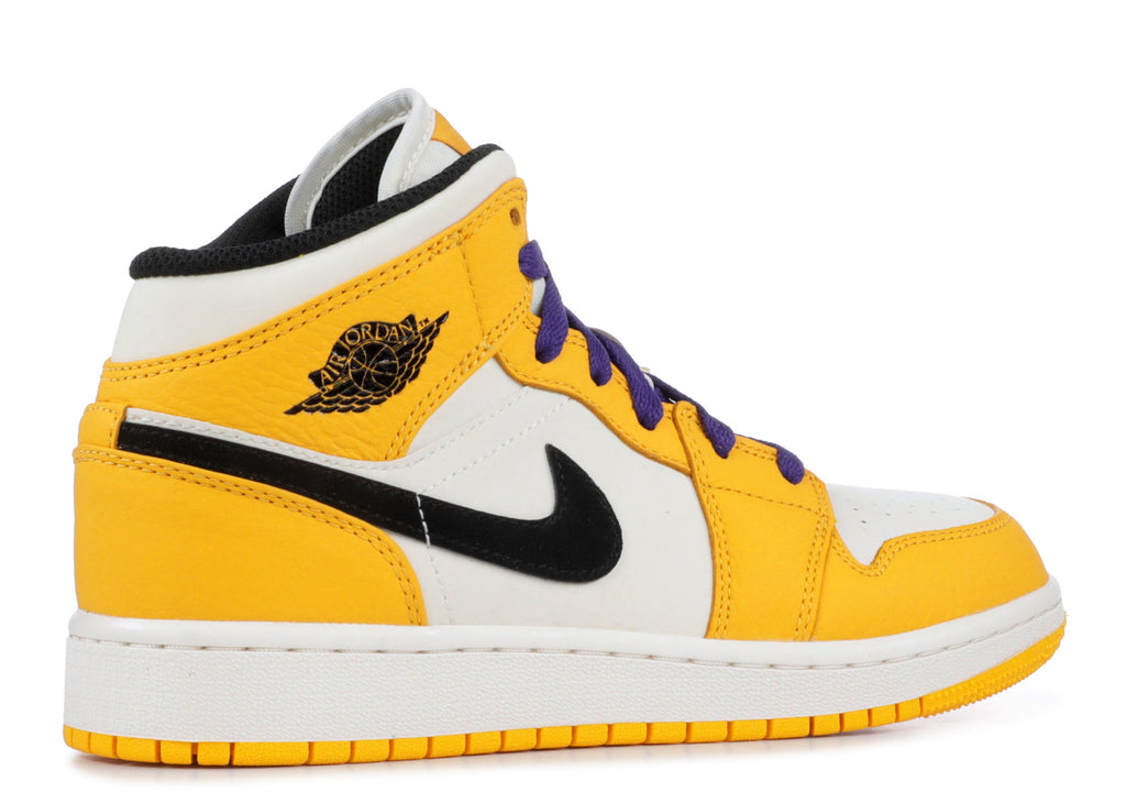 "Air Jordan 1 Mid GS ""LAKERS""  BQ6931 700"