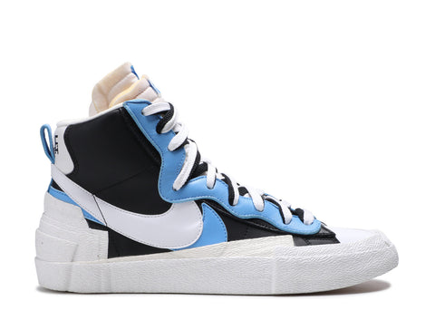 "NIKE BLAZER HIGH X SACAI ""WHITE BLACK BLUE"" BV0072 001 ."