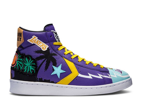 "CHINATOWN MARKET X CONVERSE PRO LEATHER HIGH ""LAKERS CHAMPIONSHIP JACKET"" 171240C"