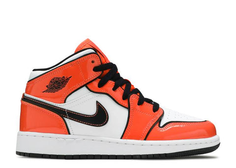 "Air Jordan 1 Mid GS ""TURF ORANGE"" BQ6931 802"
