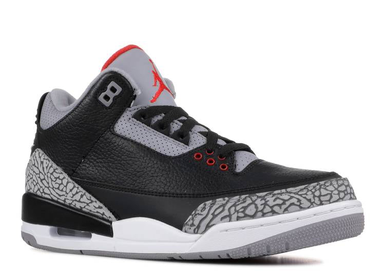 "AIR JORDAN 3 RETRO OG BG ""BLACK CEMENT 2018"" 854261 001"