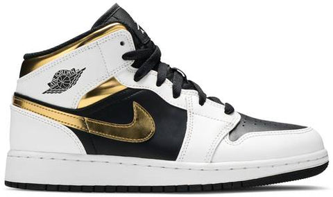 "Air Jordan 1 Mid (GS) ""WHITE GOLD"" 554725 190"