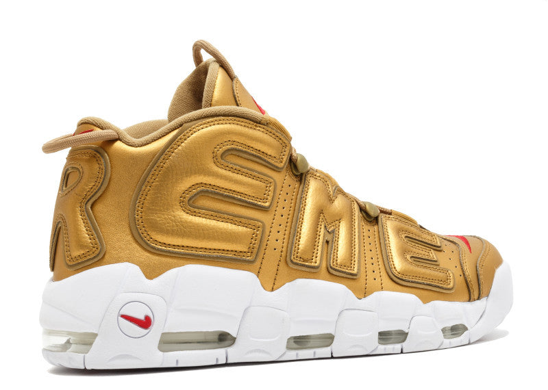 "Supreme x Nike Air More Uptempo ""Gold"" 902290 700"