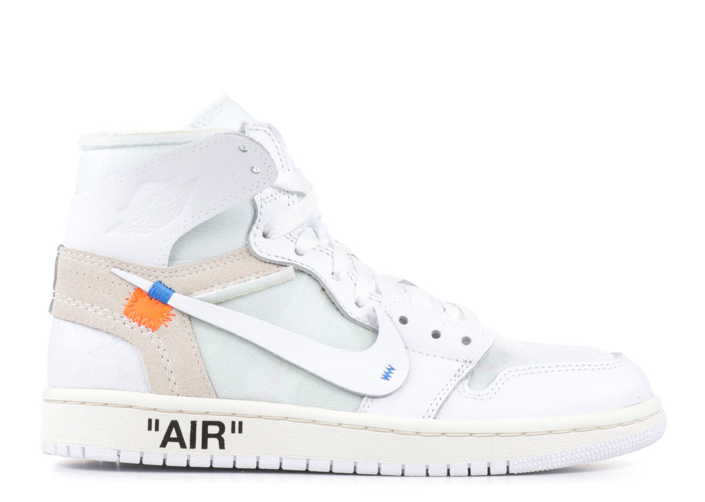 "Air Jordan 1 Retro Off-White NRG  (GS) ""White"" AQ8296 100"