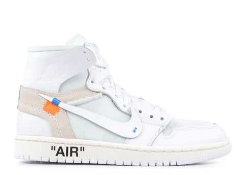"Air Jordan 1 Retro Off-White NRG (GS) ""White"" AQ8296 100 ."
