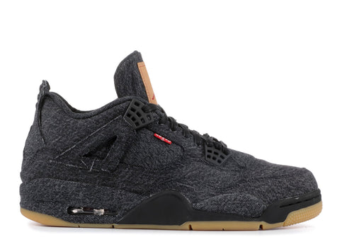 "Air Jordan 4 Retro Levi's Denim "" BLACK"" AO2571 001 ."