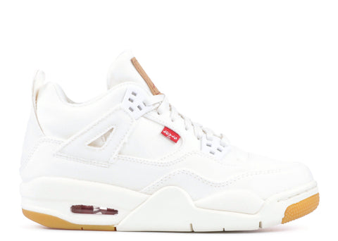 "AIR JORDAN 4 LEVIS NRG GS ""WHITE"" AQ9103 100"