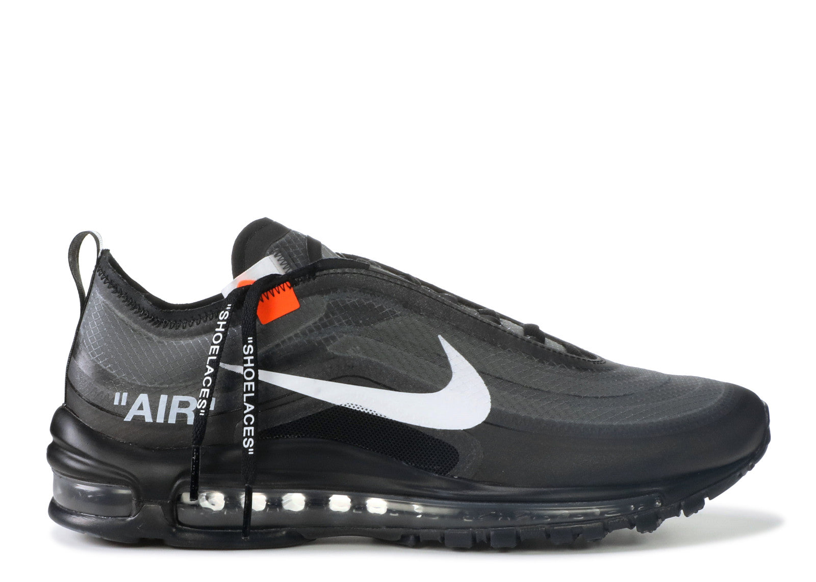 "NIKEK Off-White x NIKE AIR MAX 97 ""BLACK"" AJ4585 001"
